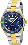 Invicta Men's Pro Diver Quartz Watch with Stainless-Steel Strap, Two Tone, 22 (Model: 22058