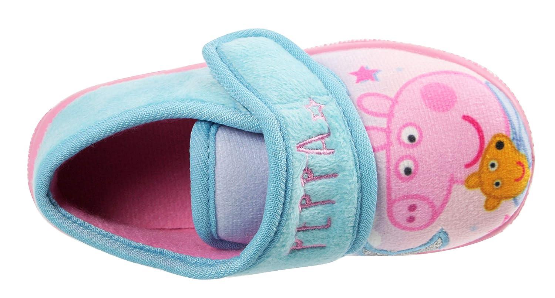 Girls Peppa Pig /& Teddy Slipper Shoes Soft Novelty UK Sizes 5-10 Blue 7 UK Child, Tana