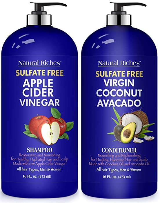 Updated 2021 – Top 10 Wow Apple Cider Vinegar Shampoo And Conditioner Set