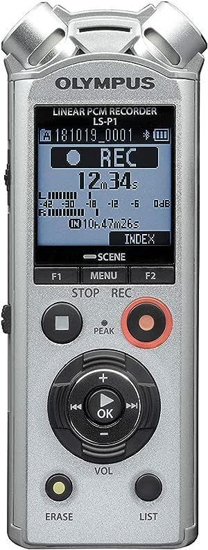 Olympus LS-P1 Portable Handheld Digital Audio Recorder (Silver, 4GB, No Bluetooth)