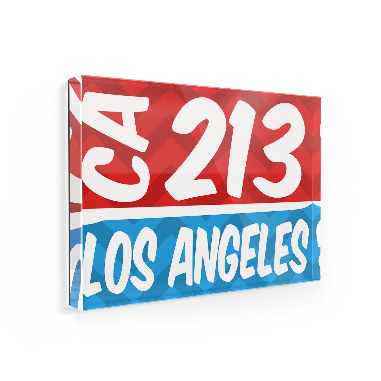 Fridge Magnet 213 Los Angeles, CA red/blue - NEONBLOND