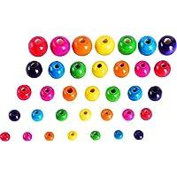 Sumind 500 Piezas Abalorios de Madera Coloridos Perlas