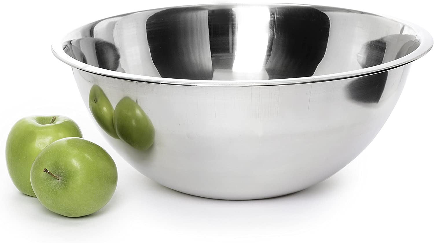YBM HOME Stainless Steel Mixing Bowl for Cooking Baking, Mixing and Serving, Polished Mirror Nesting Metal Bowls Commercial Grade, 5 Quart, 1175