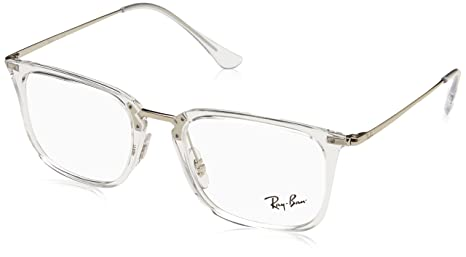 7263990e50e Amazon.com  Ray-Ban Men s RX7141 Eyeglasses Trasparent 52mm  Clothing