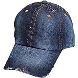 Da.Wa Gorra de béisbol del Vaquero Hats Hip-Hop Sombrero de Sol Verano para Protector Solar al Aire Libre Deporte para Unisexo(Azul Oscuro)