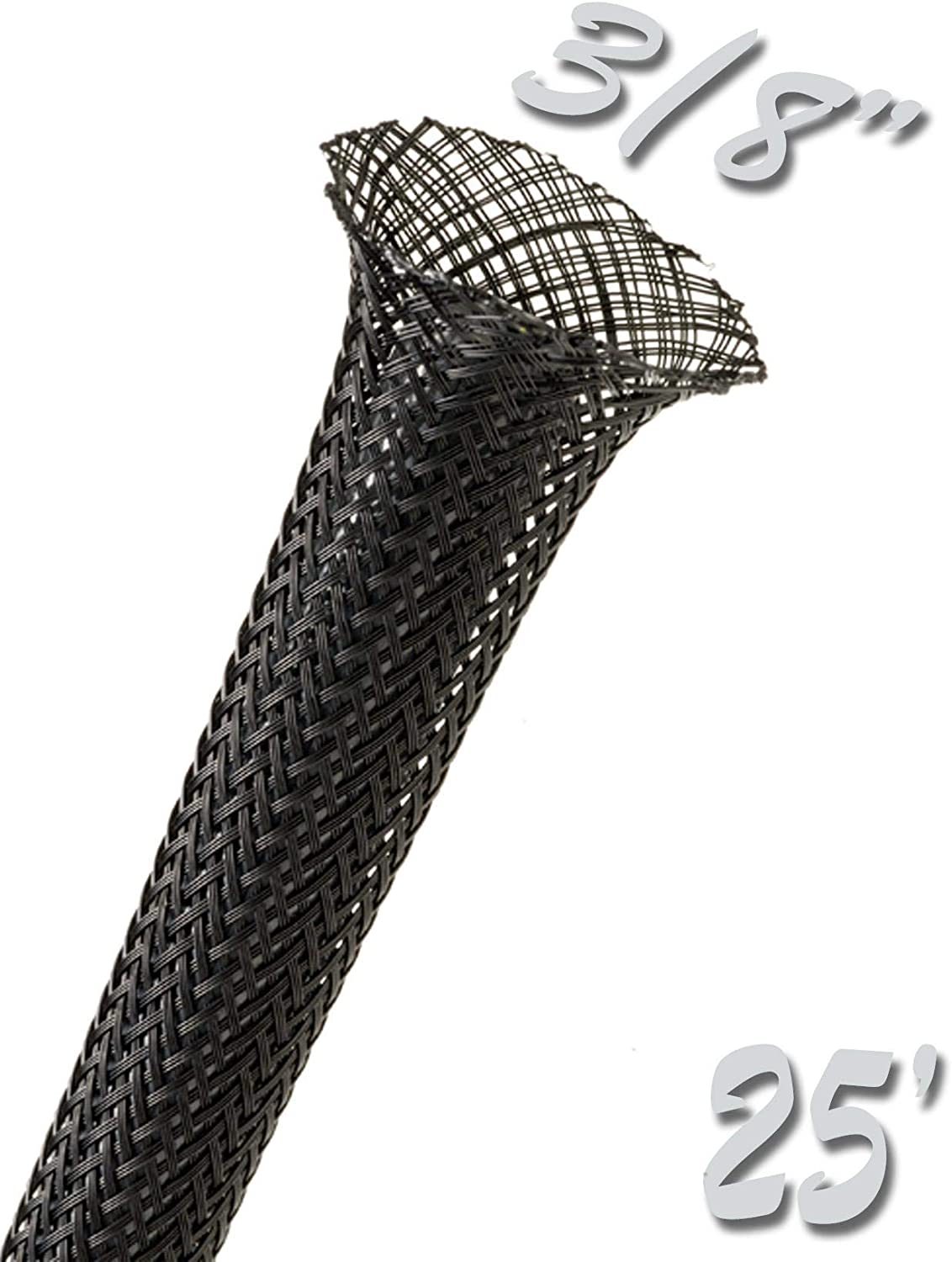 spiral  25/' 3//8 BRAIDED EXPANDABLE SLEEVING UPTOWN PURPLE