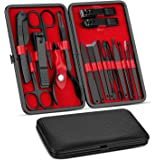 Vabogu Manicure Set, Pedicure Kit, Nail Clippers, Professional Grooming Kit, Nail Tools 18 In 1 with Luxurious Travel Case Fo