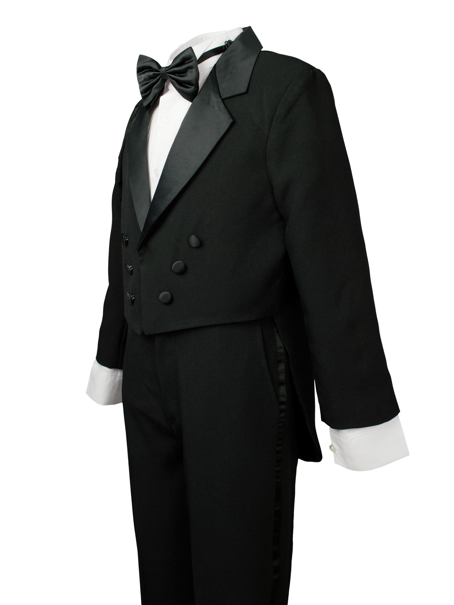 Spring Notion Boys' Black Classic Tuxedo with Tail Burgundy 4T by Spring Notion (Image #4)