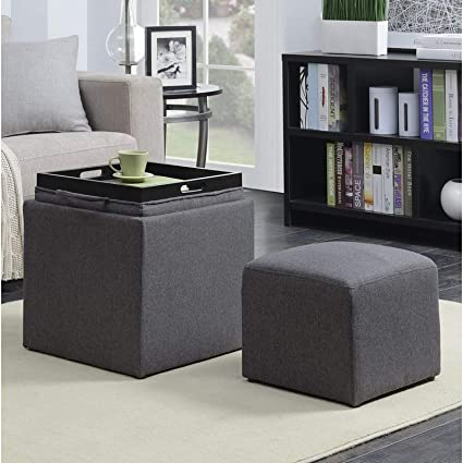 Ideas About Tray Coffee Table With Soft Ottoman