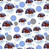 Clydesdale Horse Running in Snow Premium Gift Wrap Wrapping Paper Roll