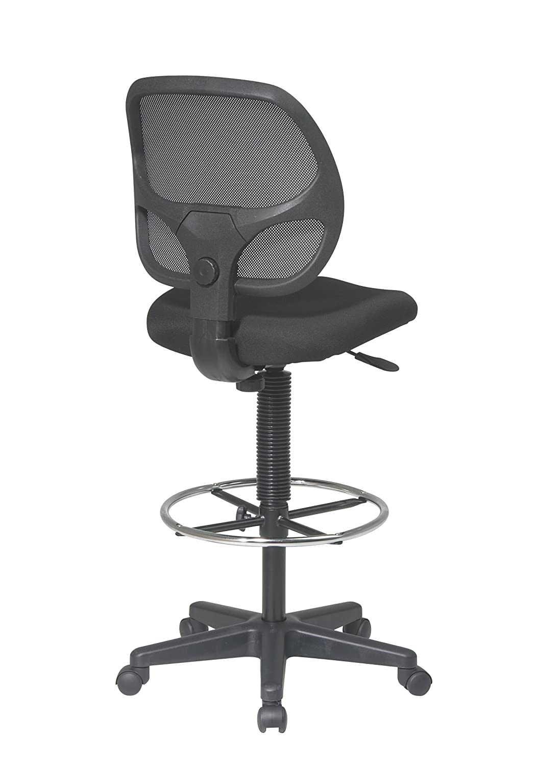 Amazon com  Office Star Deluxe Mesh Back Drafting Chair with 20  Diameter Adjustable  Footring  Black Fabric Seat  Kitchen   DiningAmazon com  Office Star Deluxe Mesh Back Drafting Chair with 20  . Office Star Height Adjustable Drafting Chair With Footring. Home Design Ideas
