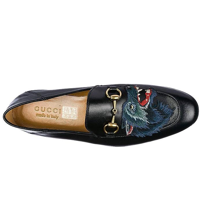 Gucci Mocasines en Piel Hombres Nuevo Lupo Negro EU 44 501020DLC001000: Amazon.es: Zapatos y complementos