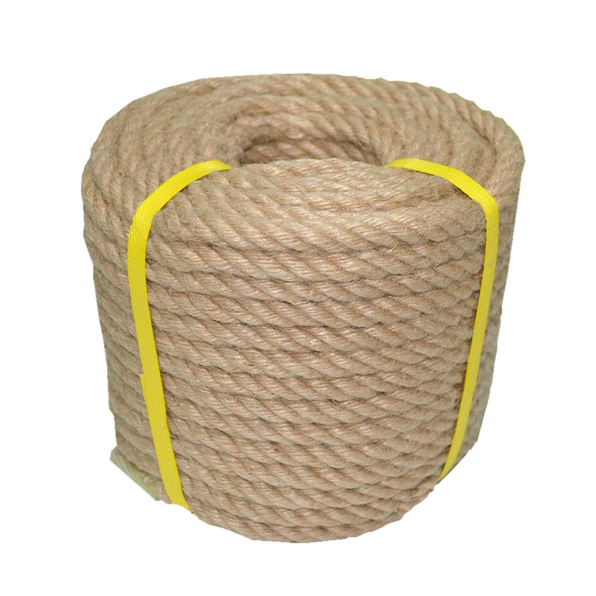 100% Natural Jute Rope Hemp Rope 50 Feet 1/2 Inch Strong Jute Twine for DIY Crafts Gardening Hammock Home Decorating by YuzeNet