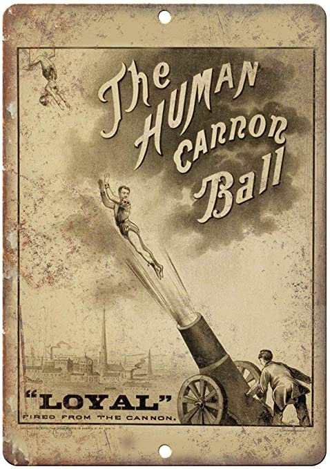 Froy The Human Cannon Ball Circus Pared Cartel de Chapa ...