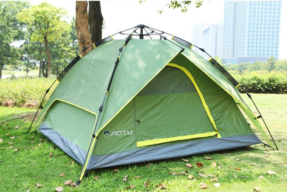 YHKQS-KQS Automatisches Pop Up Tent Outdoor Wasserdichtes Multifunktionszelt zum Wandern Camping Großes Zelt / Strandzelt 3-4 Personen 210  210  150cm
