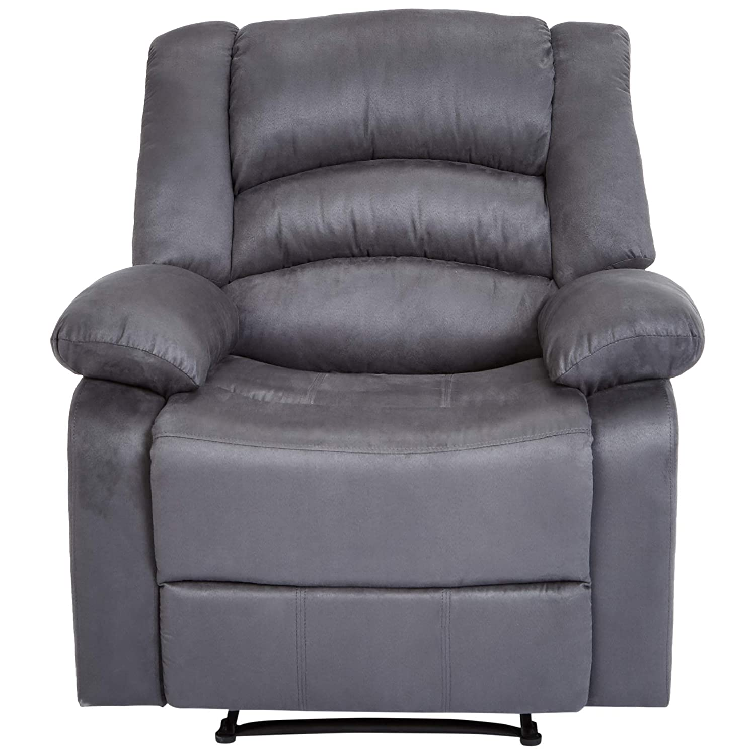 JC Home Liano Recliner Chair with Microfiber Upholstery, Stone Blue