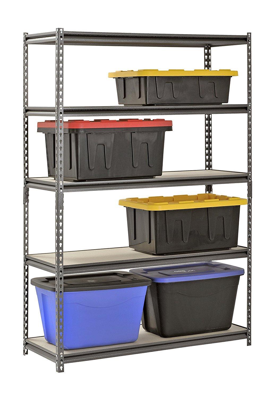 Muscle Rack UR481872PB5P-SV Silver Vein Steel Storage Rack, 5 Adjustable Shelves, 4000 lb. Capacity, 72'' Height x 48'' Width x 18'' Depth (3-Pack) with Towel Cleaner by Muscle Rack (Image #3)