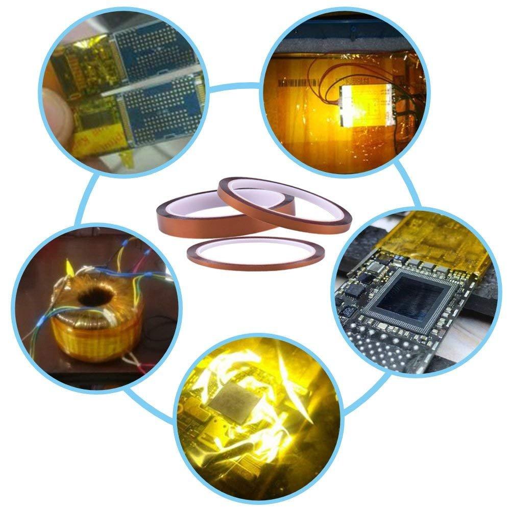 3//4//6//8//15 MM LABOTA 5 Rollen High Temp Klebeband 3D Drucker Hitzebest/ändiges Tape Kapton Tape Polyimid Elektronik Isolierband 30M