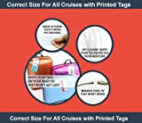 Cruise Luggage Tags Etag Holders Zip Seal & Steel