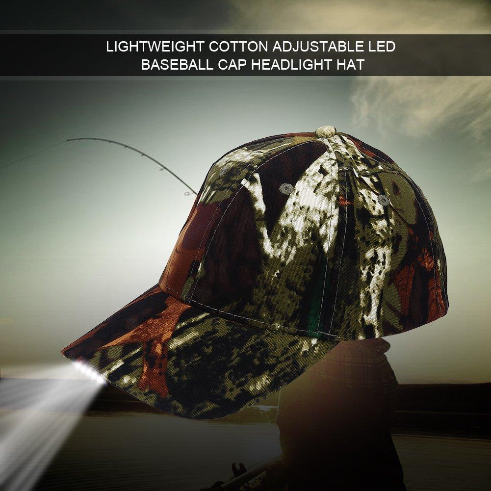 憧れ Vbestlife ハンズフリーLED野球キャップ B0777N6RVD 充電式帽子 LEDライト付き 調節可能な野球帽 ヘッドライト 充電式帽子 5つの明るいLEDライト/ユニセックス野球帽 夜釣り/懐中電灯 夜釣り キャンプ ジョギング 迷彩 B0777N6RVD, 名寄市:acd2c9d8 --- specialcharacter.co