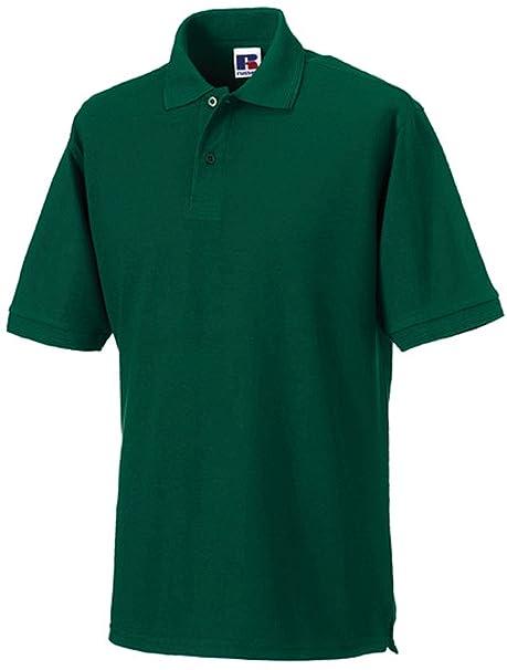 Strapazierfähiges Poloshirt aus Mischgewebe bis 4XL, Farbe:Bottle  Green;Größe:XS XS