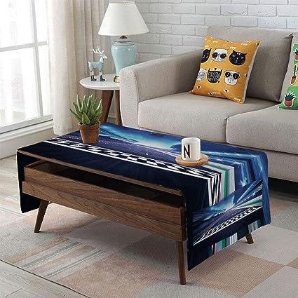 Magnificent Amazon Com Linen Blend Tablecloth Side Pocket Design Home Interior And Landscaping Oversignezvosmurscom