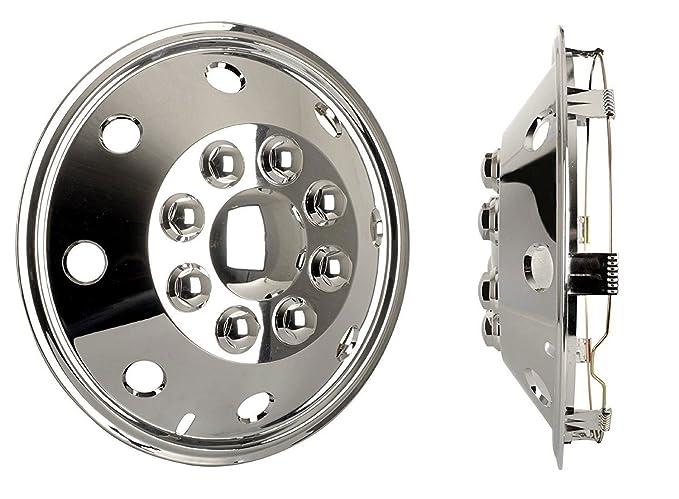 4 tapacubos cromados para furgoneta de 16 pulgadas extra profundos para Expert: Amazon.es: Coche y moto