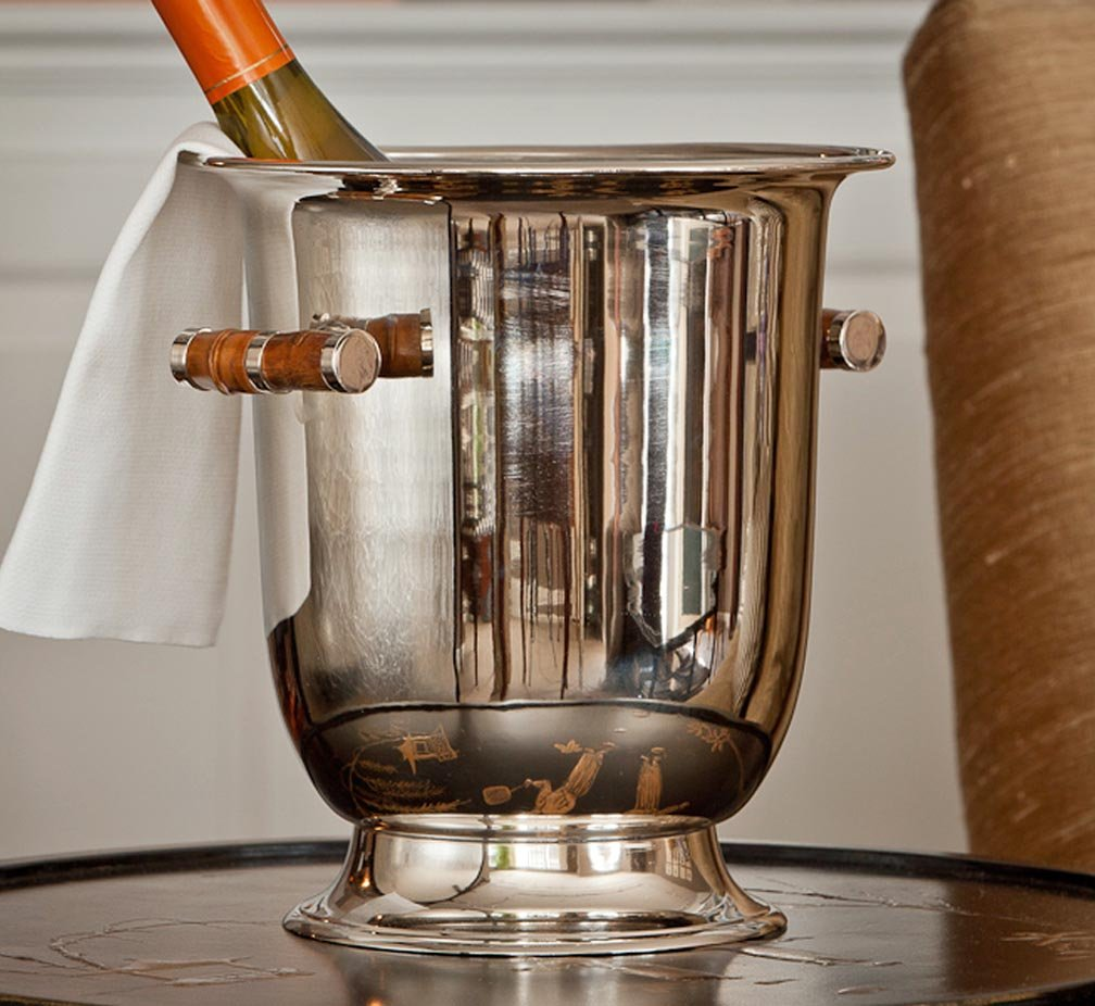 Wine Cooler - ''Belgravia'' Nickel Finish Wine Cooler - Wine Bucket - Metal Wine Cooler by KensingtonRow Home Collection (Image #1)