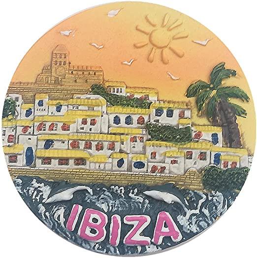 MUYU Magnet Ibiza España 3D imán de Nevera Recuerdo Regalo, decoración del hogar y la Cocina magnético Adhesivo, Ibiza España imán de Nevera: Amazon.es: Hogar