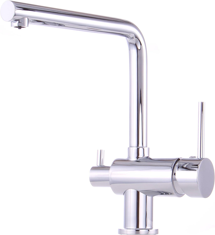 Niederdruck Küche Armatur mit Maschinenanschlauss Geräteanschluss  Küchenarmatur Einhebelmischer Wasserhahn küchenarmaturen armaturen