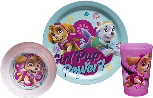 Skye Everest  100/% Official Paw Patrol Girls Dinner Set Tumbler Bowl /& Plate