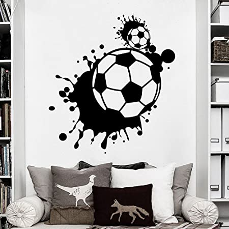 Balón de fútbol pared vinilo adhesivo - Soccerball habitación de ...