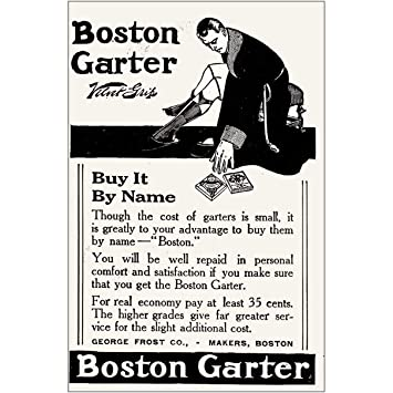 Amazon com: RelicPaper 1918 Boston Garter: Buy It by Name