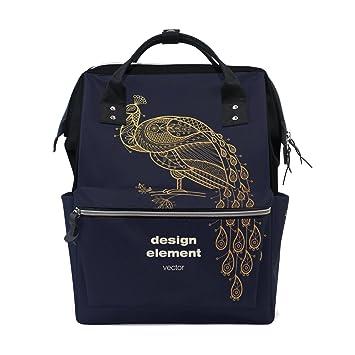 JSTEL - Bolsas para ordenador portátil, universidad, viajes, pavo real, animales, mochila escolar, bolso de hombro: Amazon.es: Electrónica