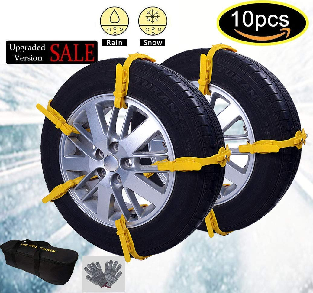BPS product Car Snow Chains Snow Tire Chains Anti-Slip Tire Chains for All Cars SUV Trucks Anti-Skid Car Chains Snow Chains Car Winter Chains SUV for Universal Size Fit Automobiles Rim 13/'/'-22/'/'