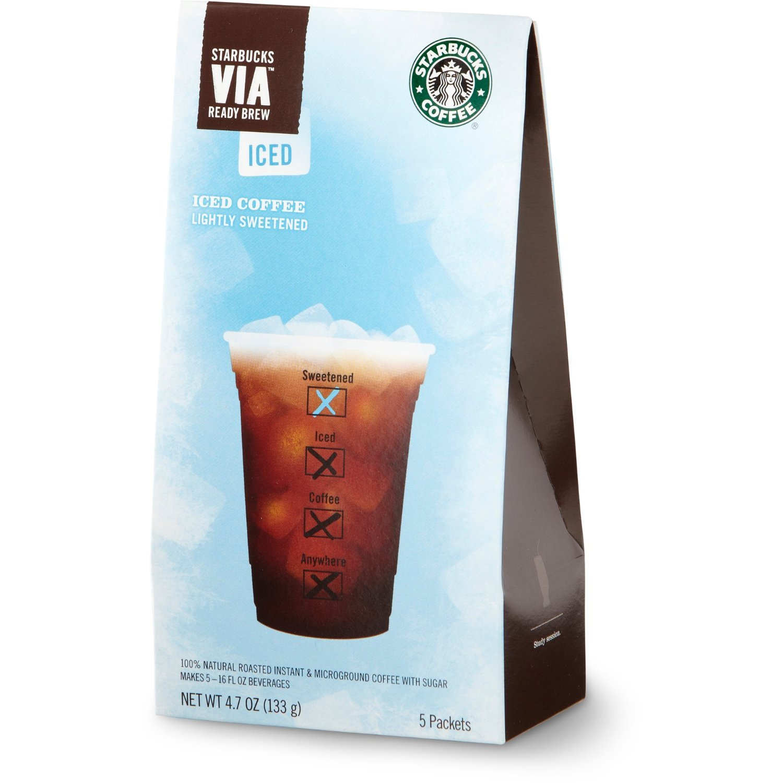 Starbucks VIA Iced Coffee by Starbucks Coffee - 10 Packs