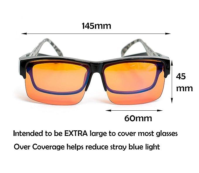 ElementsActive Gafas para computadora con bloqueo anti-azul con marco flexible para hombre Grande: Amazon.es: Ropa y accesorios