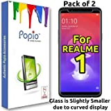 POPIO Tempered Glass for Oppo Realme 1 - Pack of 2