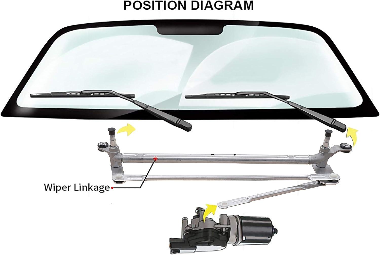 Replaces 22711011 2007-2009 Saturn Aura 2005-2010 Pontiac G6 Windshield Wiper Transmission Linkage Module Assembly For 2008-2012 Chevrolet Malibu