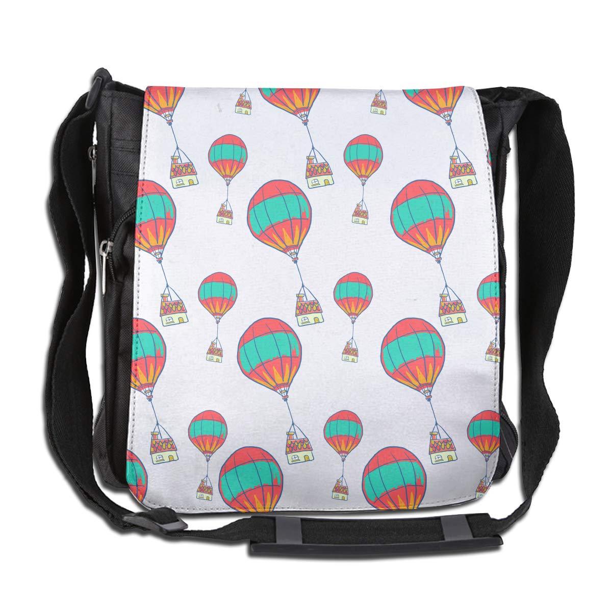 LRHUI Hot Air Balloon Unisex Multifunction Narrow Single Shoulder Bag Diagonal Business Bag