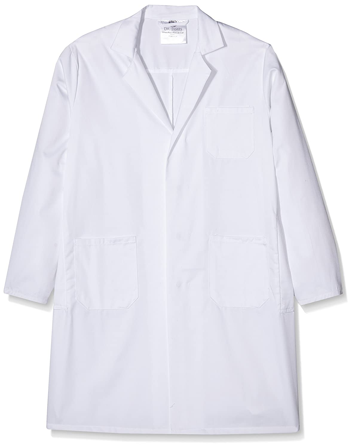 Dr. James SLK-L Unisex Polycotton Lab Coat and Anti-Scratch Safety Glasses, Student Lab Kit, Large, White Labmarc Laboratory Supplies UKVSLK-L