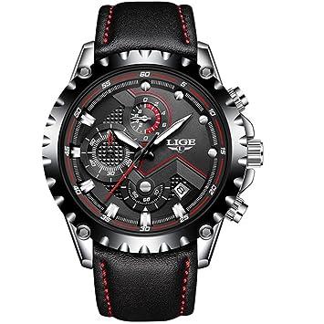 SW Watches Relojes, Moda Casual De Los Hombres Vestido Negro De Los Hombres De Acero
