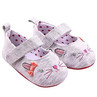 481b4b0cedd3e Ouneed® Bebe Naissance Chat Chaussures Premier Pas Velcro Tollder Shoes ...