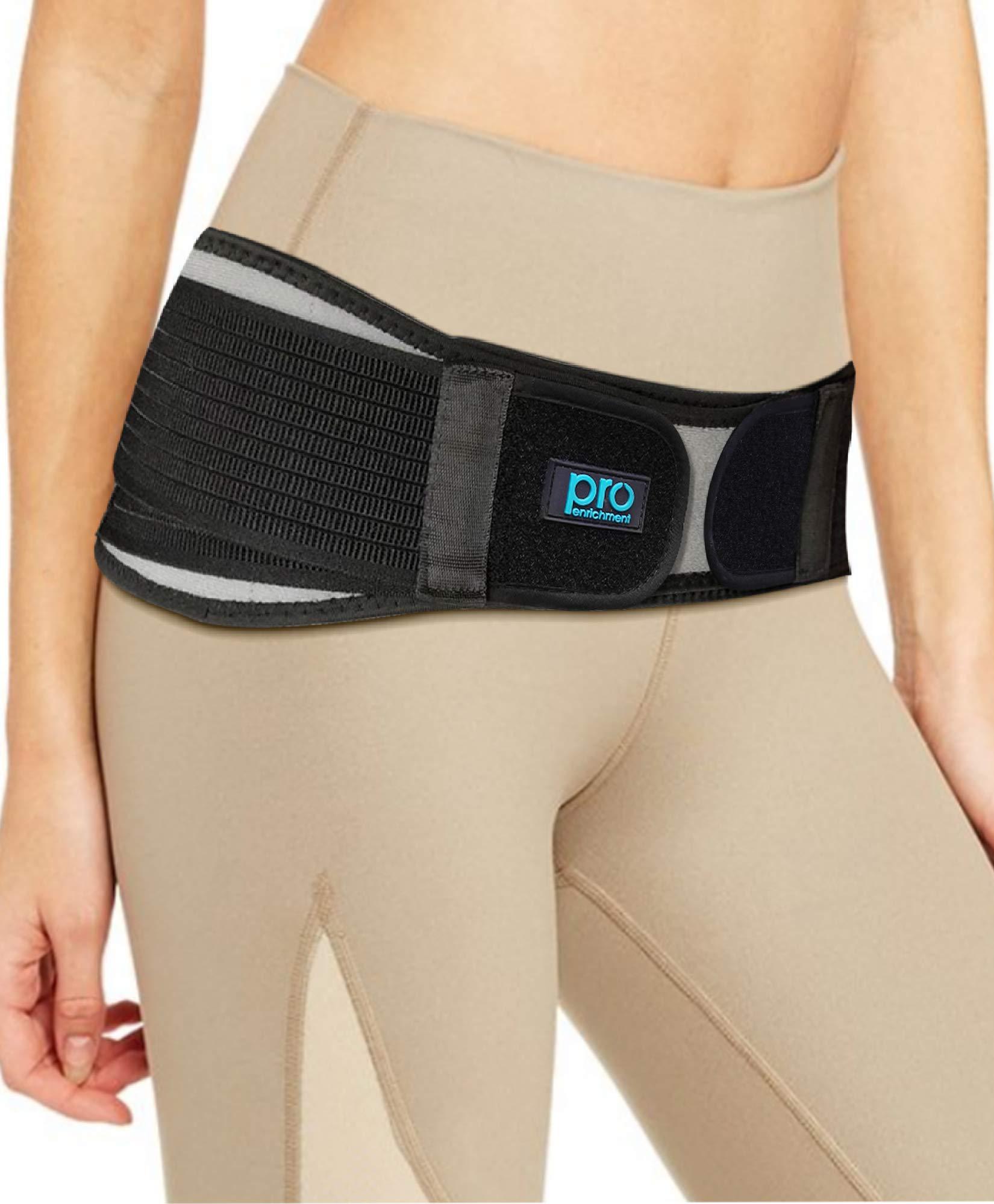 SI Belt Hip Brace for Men and Women That Treat Sciatica, Including Lower Back Support, Lumbar, Pelvic & Leg Pain Relief. Stabilize Sacroiliac SI Joint. Anti-Slip Sciatic Nerve Braces (Regular Size)