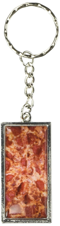Gráficos y más queso y Pepperoni Pizza Pie llavero anillo ...