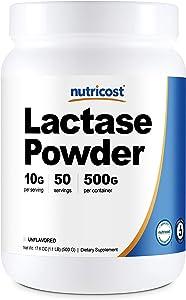 Nutricost Lactase Powder 500 Grams -Non-GMO, Gluten Free, High Quality Lactase Powder