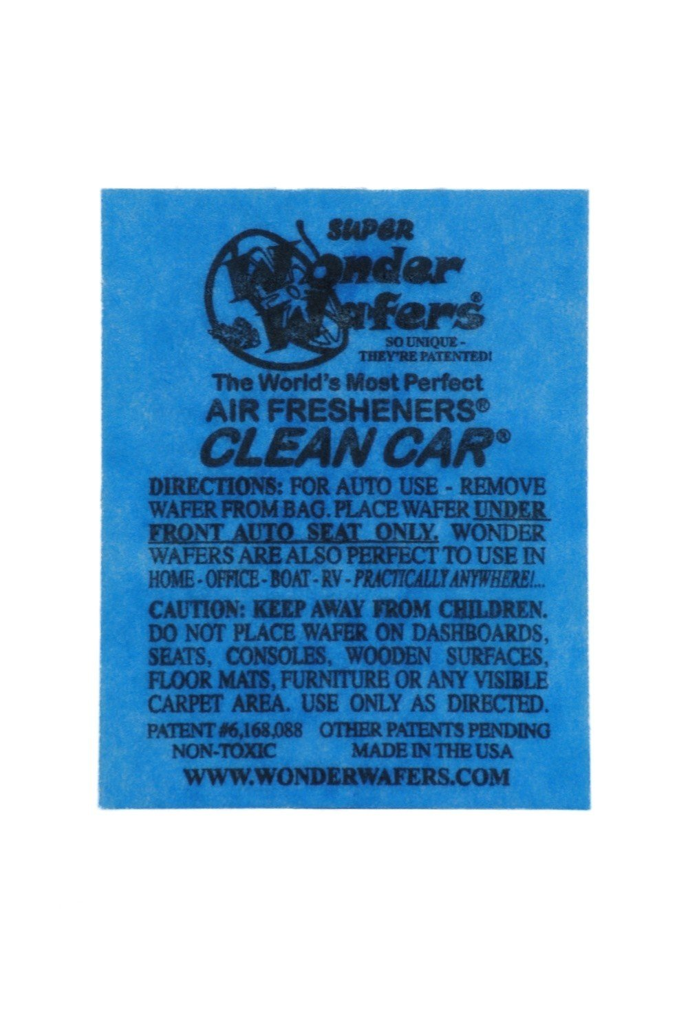Wonder Wafers Air Fresheners 50ct. Individually Wrapped, Clean Car Fragrance 19-83232