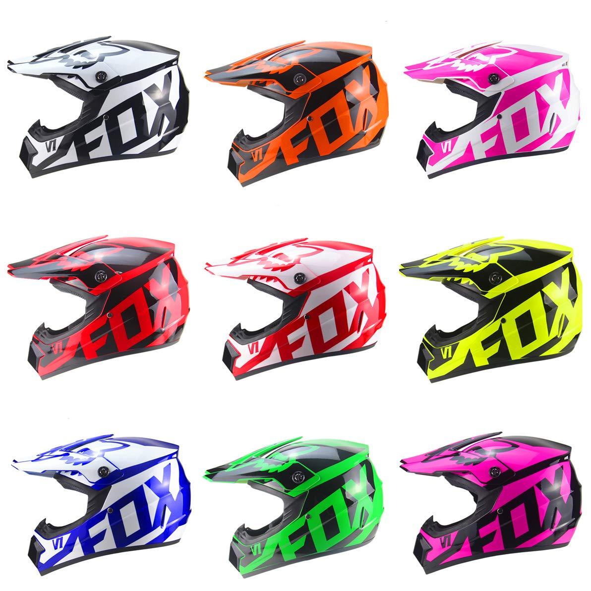 para adultos j/óvenes ni/ños L 57~58cm , Verde QSWSW Casco de motocross Seguro Cara completa Bicicleta cl/ásica MTB DH Casco de carreras Motocross Casco de bicicleta cuesta abajo Capacetes Motocross