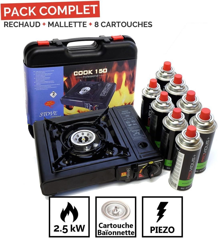 Proweltek Cook 150 - Hornillo de camping de gas butano o ...
