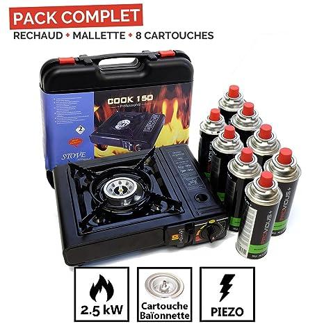 Proweltek Cook 150 - Hornillo de camping de gas butano o propano ...